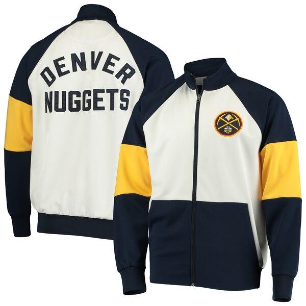 NBA デンバー・ナゲッツ ジャケット/アウター ウォーム アップ カラーブロック フルジップ G-III ネイビー ホワイト