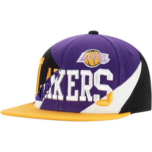 NBA ロサンゼルス・レイカーズ キャップ/帽子 マルチプレイ スナップバック ミッチェル&ネス/Mitchell & Ness パープル