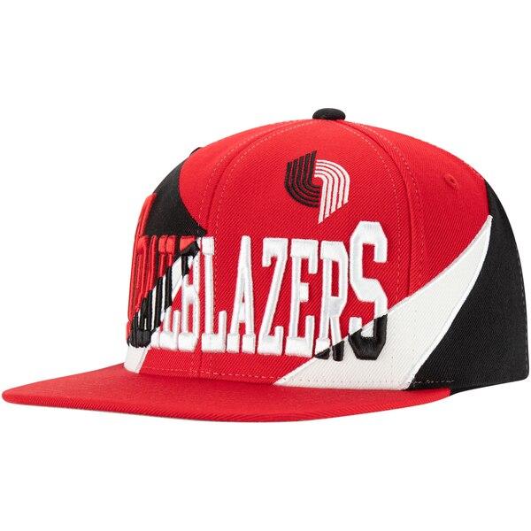 NBA ポートランド・トレイルブレイザーズ キャップ/帽子 マルチプレイ スナップバック ミッチェル&ネス/Mitchell & Ness レッド