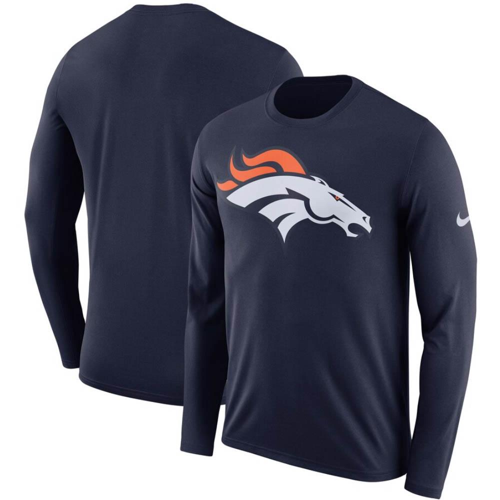 NFL ブロンコス Tシャツ DFCT ロゴ ロングスリーブ ナイキ/Nike ネイビー BQ1276-419