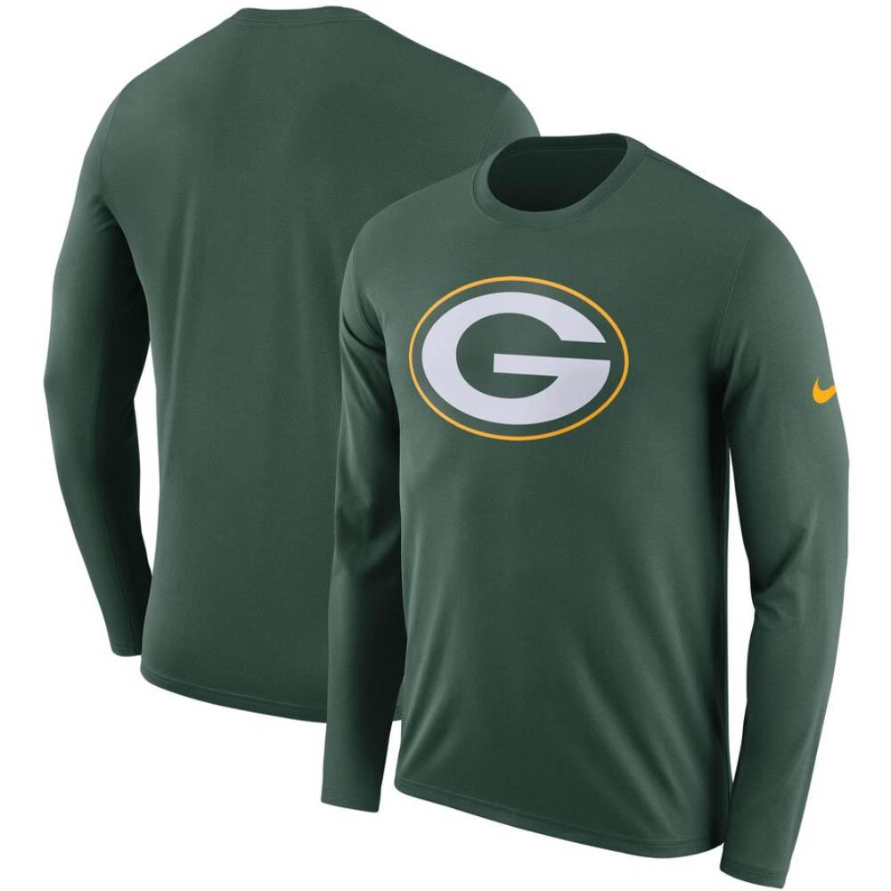 NFL パッカーズ Tシャツ DFCT ロゴ ロングスリーブ ナイキ/Nike グリーン BQ1278-323