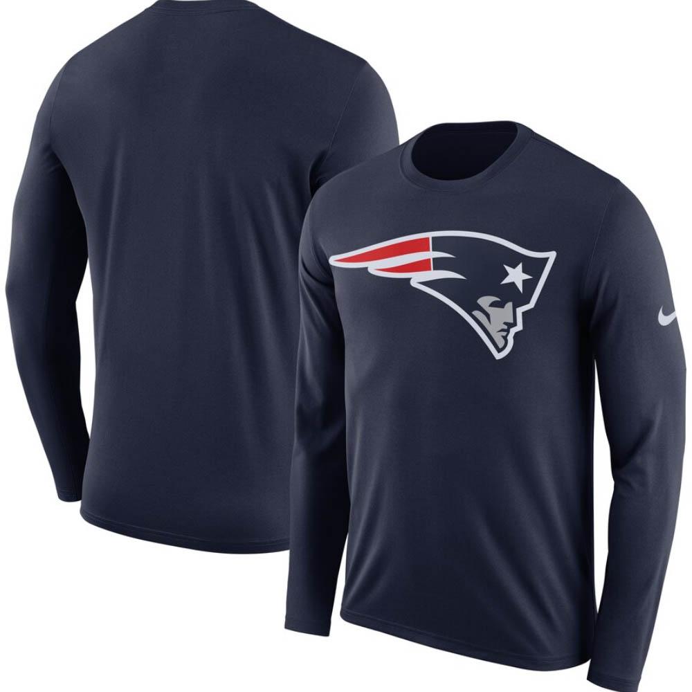 NFL ペイトリオッツ Tシャツ DFCT ロゴ ロングスリーブ ナイキ/Nike ネイビー BQ1286-419