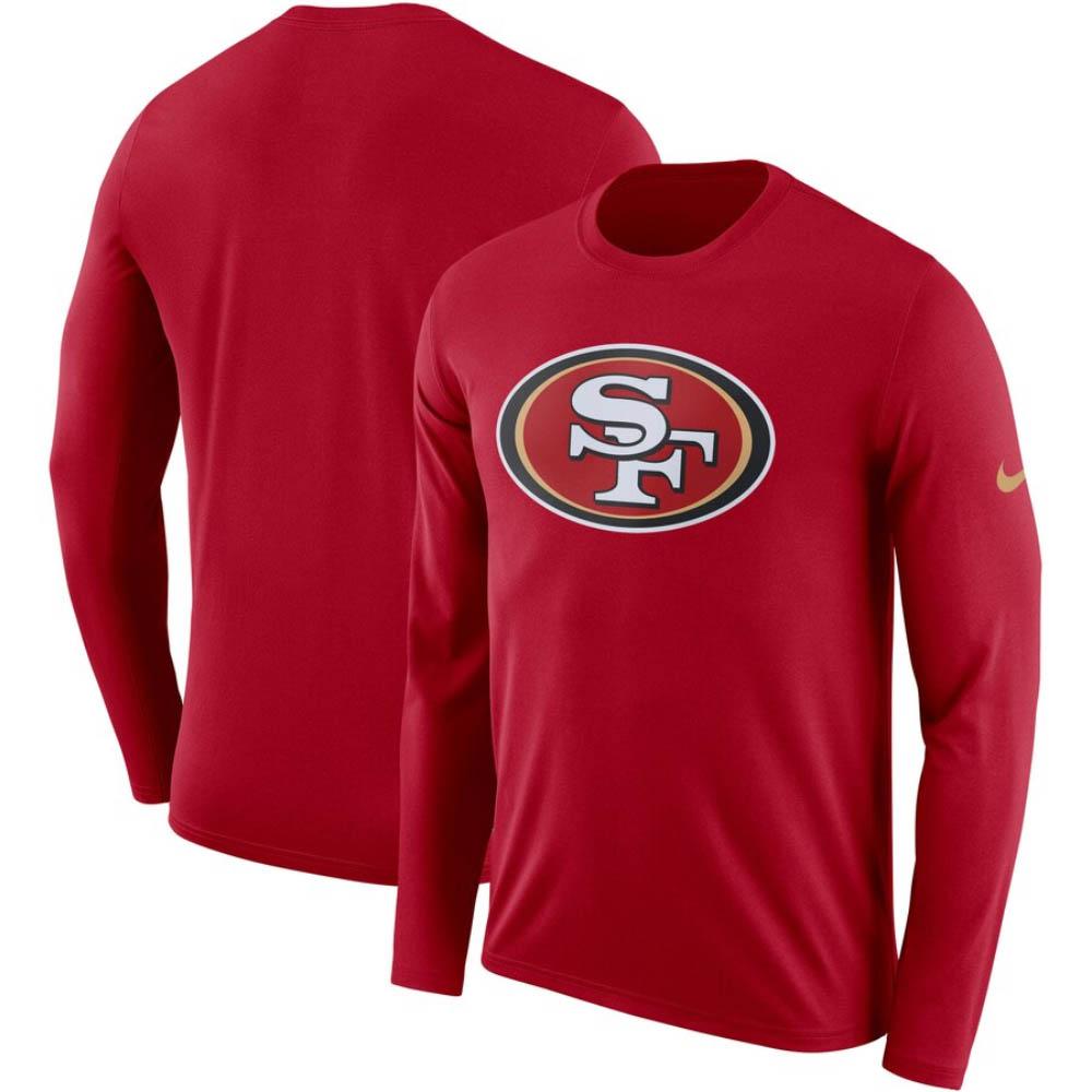 NFL 49ers Tシャツ DFCT ロゴ ロングスリーブ ナイキ/Nike レッド BQ1295-687