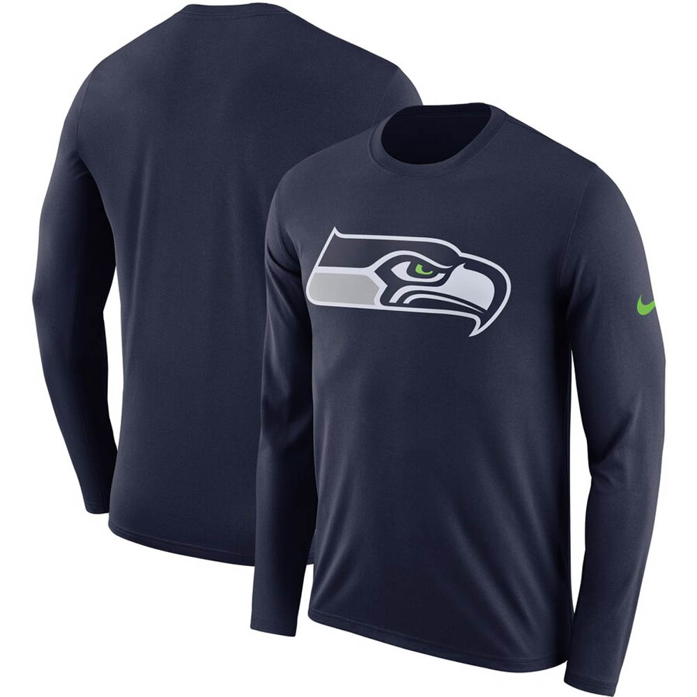 NFL シーホークス Tシャツ DFCT ロゴ ロングスリーブ ナイキ/Nike ネイビー BQ1294-419