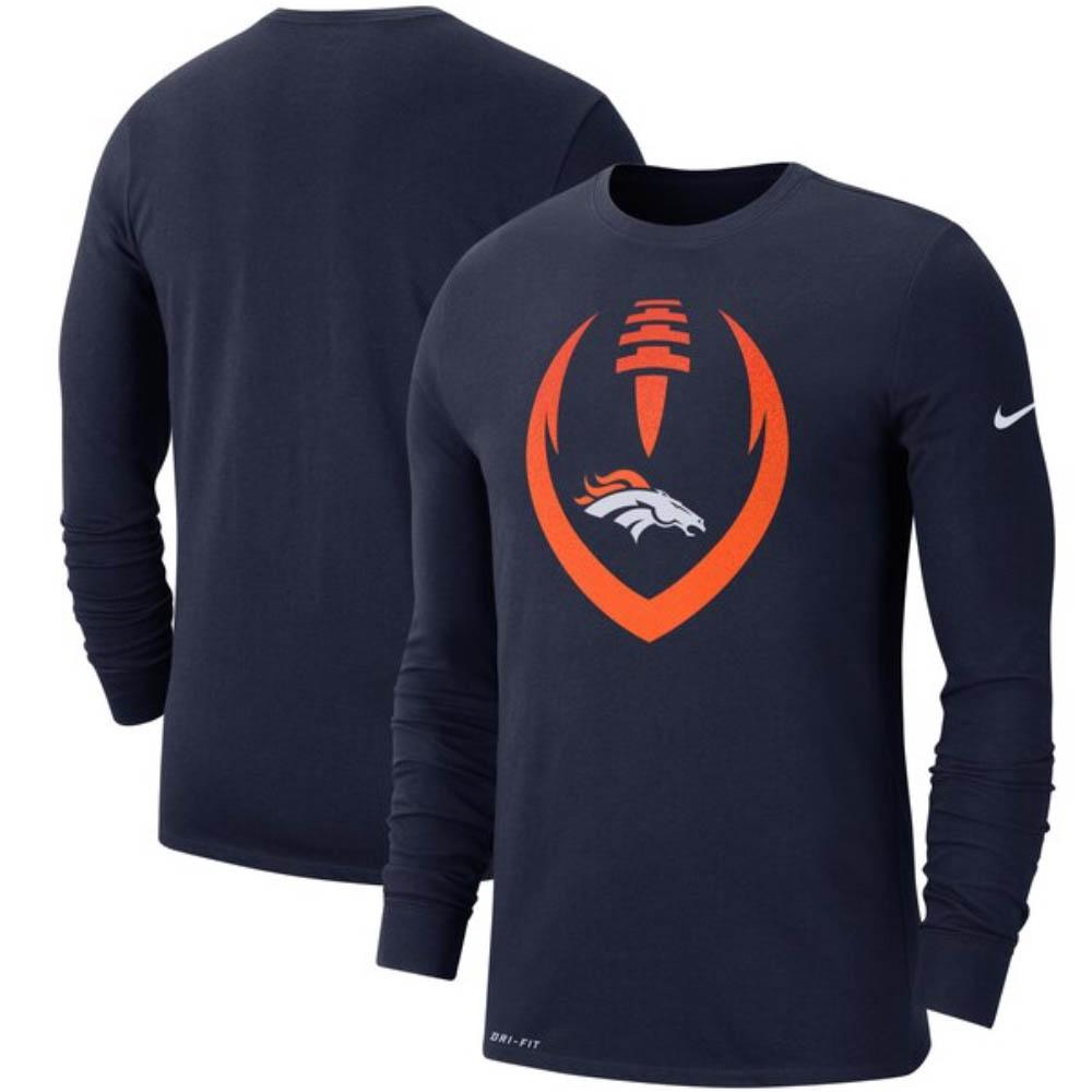 NFL ブロンコス Tシャツ モダン アイコン ロングスリーブ ナイキ/Nike ネイビー CI4851-419