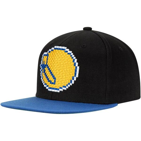 NBA ゴールデンステイト・ウォリアーズ キャップ/帽子 8ビット ツートーン アジャスタブル ミッチェル&ネス/Mitchell & Ness ブラック