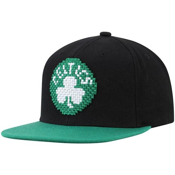 NBA ボストン・セルティックス キャップ/帽子 8ビット ツートーン アジャスタブル ミッチェル&ネス/Mitchell & Ness ブラック