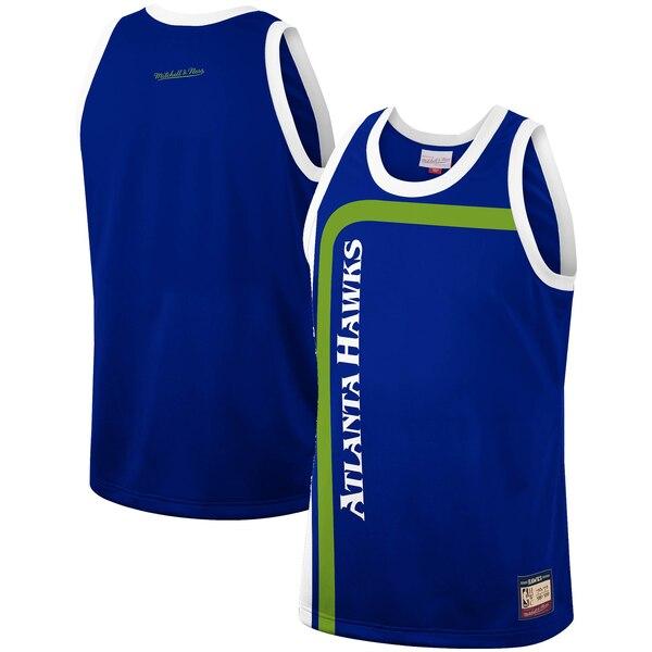 NBA アトランタ・ホークス ユニフォーム/ジャージ チーム ヘリテージ ファッション ミッチェル&ネス/Mitchell & Ness ブルー