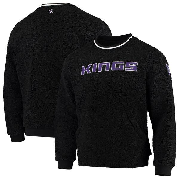 NBA サクラメント・キングス スウェットシャツ/トレーナー モト シェルパ プルオーバー FISLL ブラック