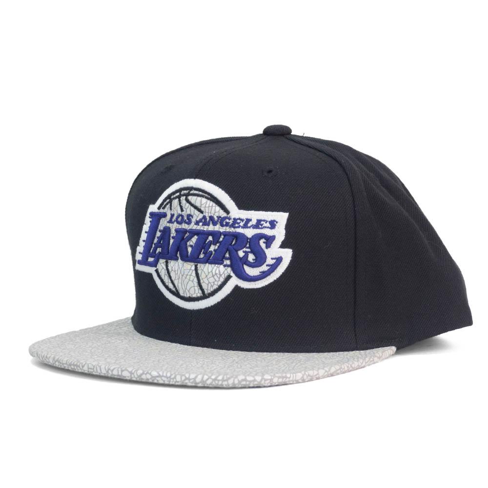 NBA ロサンゼルス・レイカーズ キャップ/帽子 アジャスタブル スナップバック ミッチェル&ネス/Mitchell & Ness
