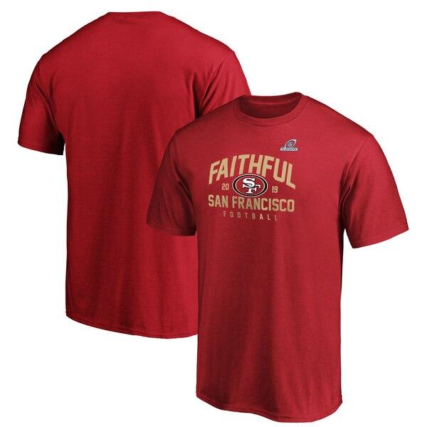 NFL 49ers Tシャツ 2019 プレーオフ ホームタウン チェックダウン スカーレット【NFLプレーオフ2019】