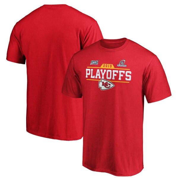 NFL チーフス Tシャツ 2019 プレーオフ チップ ショット レッド【NFLプレーオフ2019】