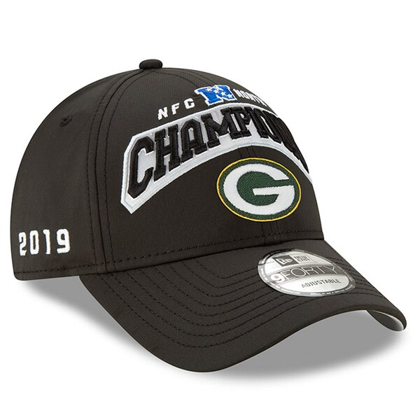 NFL パッカーズ キャップ/帽子 2019 NFC 北地区優勝 9FORTY アジャスタブル ニューエラ/New Era ブラック【NFLプレーオフ2019】