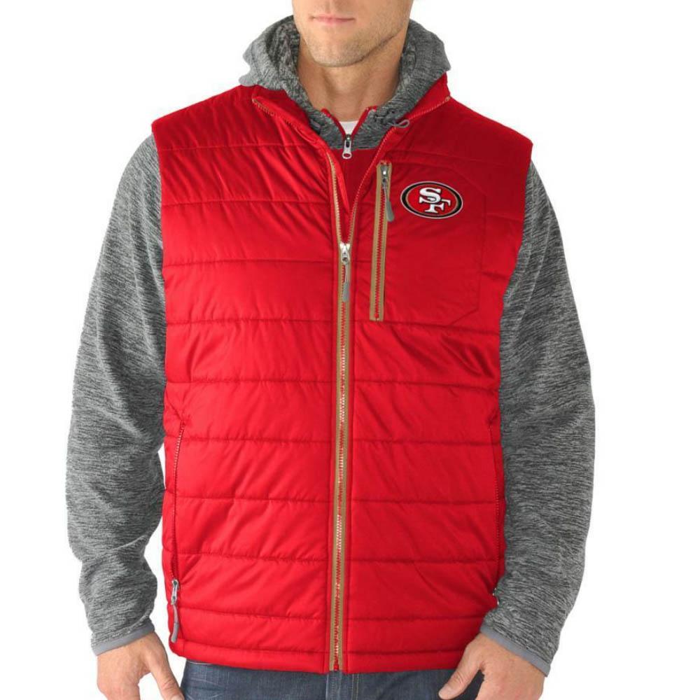 サマーセール スーパーボウル進出 NFL 49ers ジャケット/アウター アンド ベスト セット G-III レッド