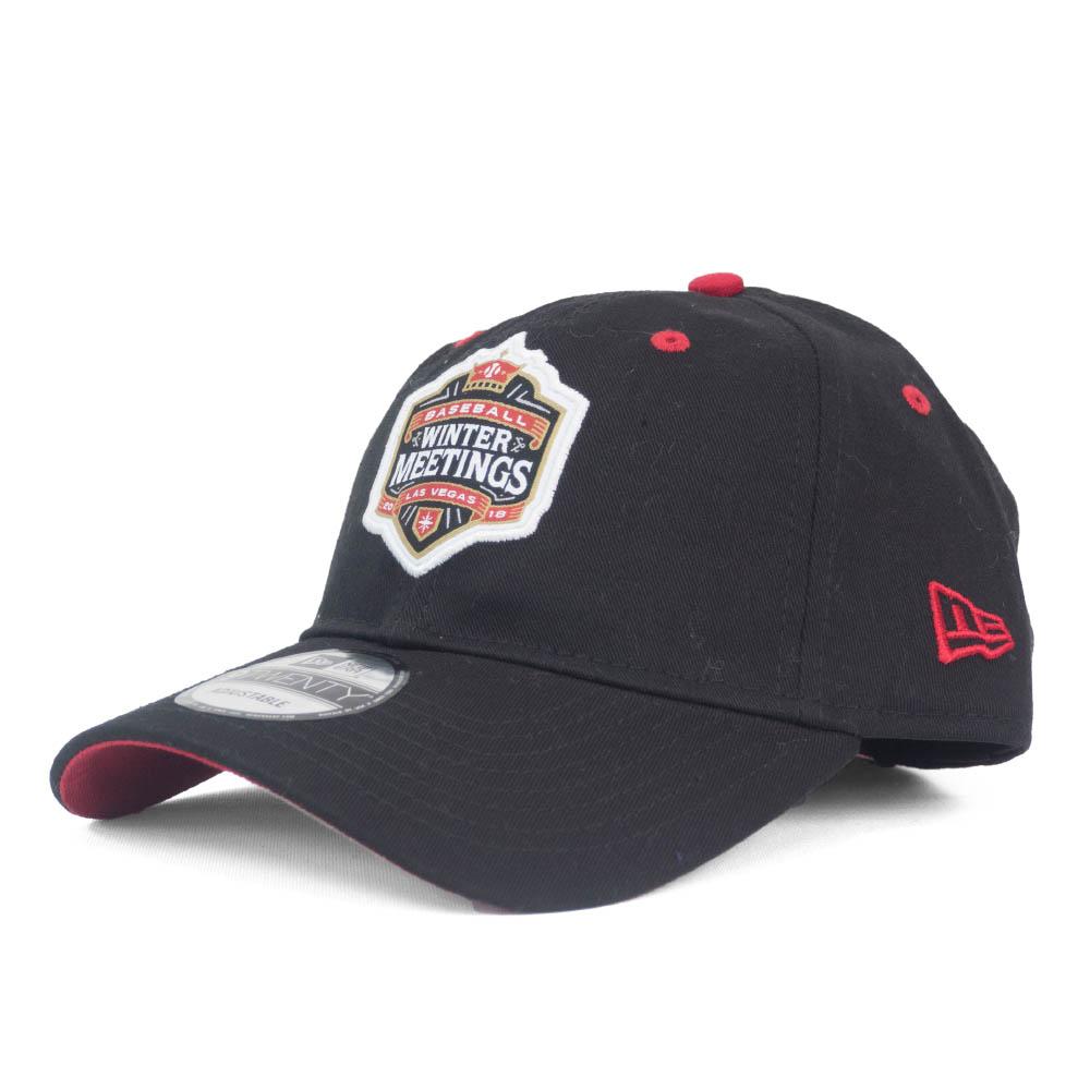 <title>あす楽対応 MLB2018ウィンターミーティング記念キャップ MLB キャップ 送料無料新品 帽子 2018 ウィンターミーティング アジャスタブル ニューエラ New Era ブラック</title>