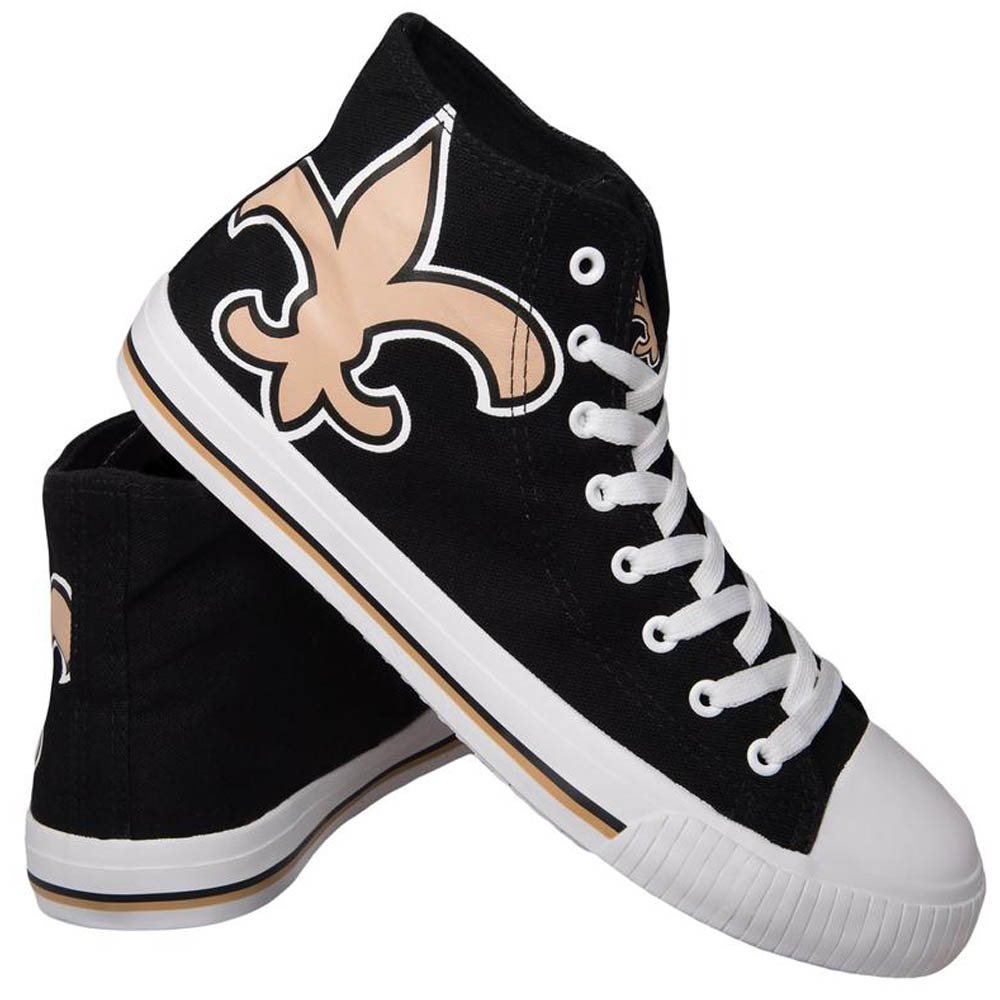 NFL セインツ シューズ/スニーカー High Top Big Logo Canvas Shoes キャンバス Forever Collectibles ブラック
