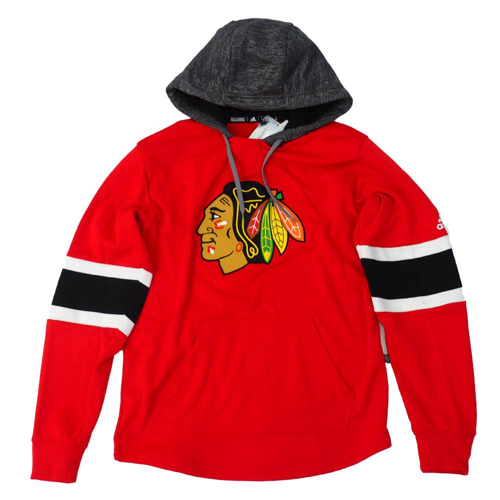 NHL ブラックホークス パーカー/フーディー オーセンティック プラチナム プルオーバー アディダス/Adidas レッド