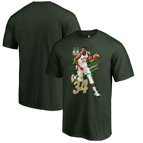 NBA ヤニス・アデトクンボ ミルウォーキー・バックス Tシャツ Fade Away T-Shirt グリーン