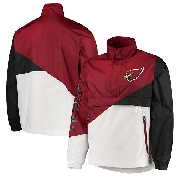 NFL カーディナルス ジャケット/アウター ダブル チーム ハーフジップ プルオーバー G-III カーディナル ホワイト
