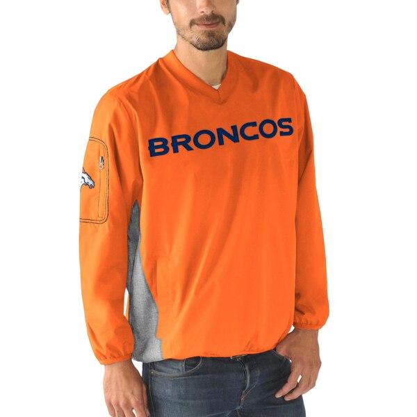 NFL ブロンコス スウェットシャツ/トレーナー Vネック プルオーバー G-III オレンジ