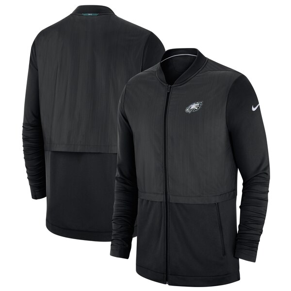 NFL イーグルス ジャケット/アウター サイドライン エリート ハイブリッド フルジップ ナイキ/Nike ブラック