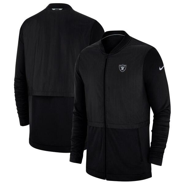 NFL レイダース ジャケット/アウター サイドライン エリート ハイブリッド フルジップ ナイキ/Nike ブラック