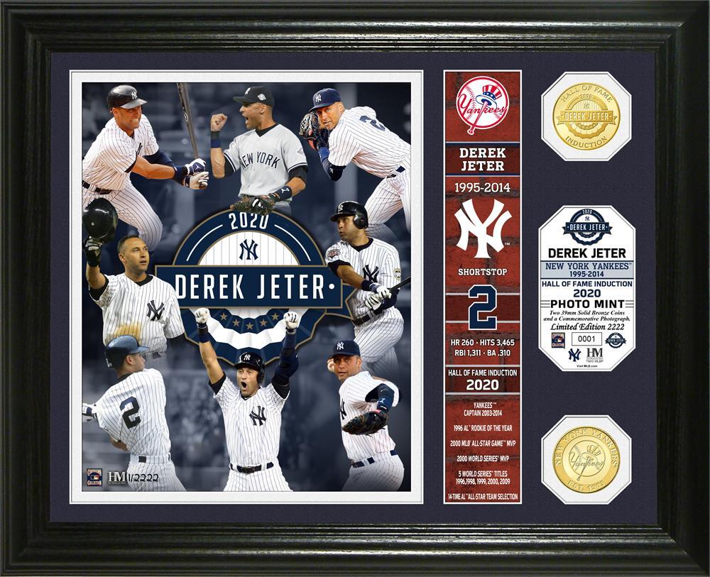 MLB デレク・ジーター ニューヨーク・ヤンキース 2020 HOF インダクション バナー ブロンズ コイン The Highland Mint