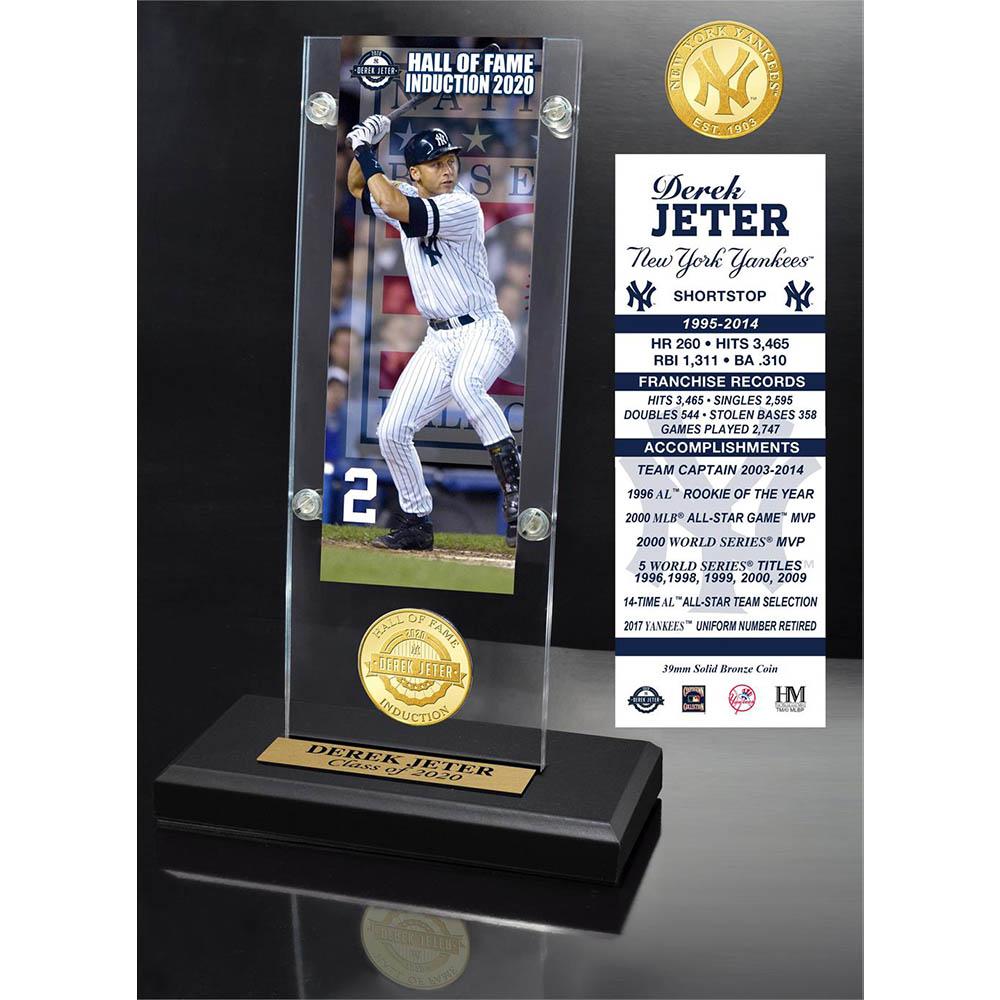 MLB デレク・ジーター ニューヨーク・ヤンキース 2020 HOF & コイン アクリル デスクトップ The Highland Mint