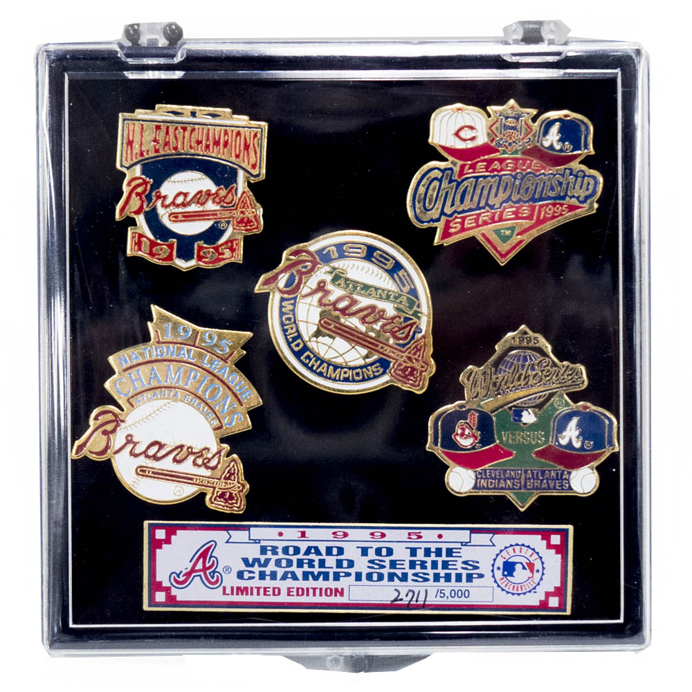MLB アトランタ・ブレーブス 1995 Road To The World Series Championship ピンズ セット IMPRINTED PRODUCTS