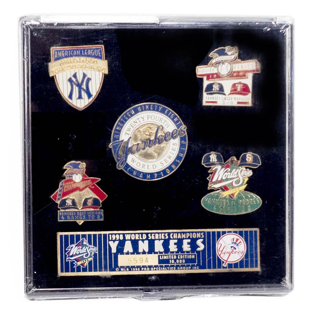 MLB ニューヨーク・ヤンキース 1998 World Series Champions ピンズ セット PSG