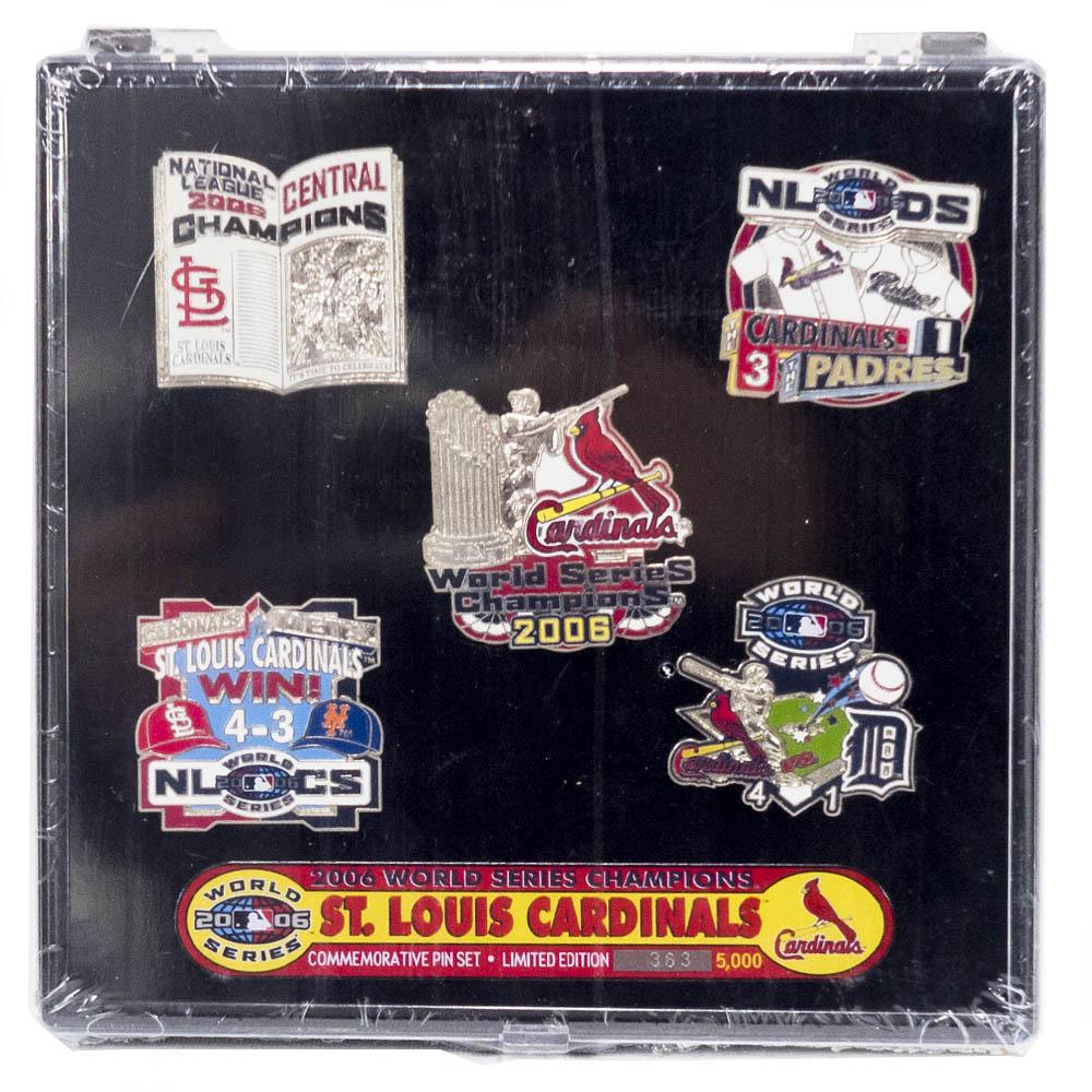 MLB セントルイス・カージナルス 2006 World Series Champions Commemorative ピンズ セット PSG