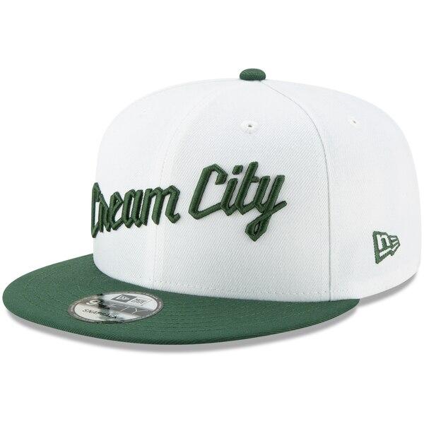 NBA ミルウォーキー・バックス キャップ/帽子 2019/20 アーンド エディンション 9FIFTY ニューエラ/New Era ホワイト/グリーン