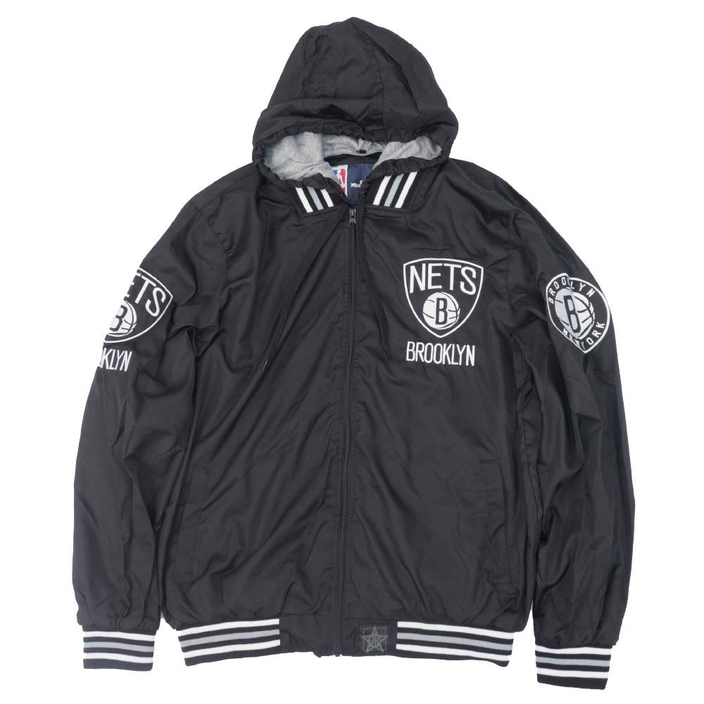 【スーパーセール】 NBA Jacket ブルックリン・ネッツ Hooded ジャケット/アウター Ripstop Design Nylon Hooded Jacket JH Design ブラック:MLB.NBAグッズショップ SELECTION, たらいうどん 山のせ:d76fce8d --- nagari.or.id
