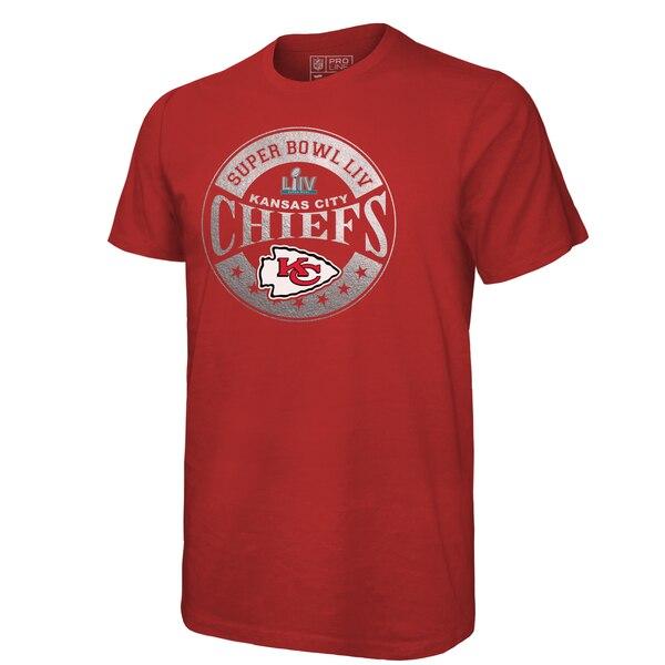 スーパーボウル進出 NFL チーフス Tシャツ 第54回スーパーボウル出場 イン ザ ゾーン メタリック レッド