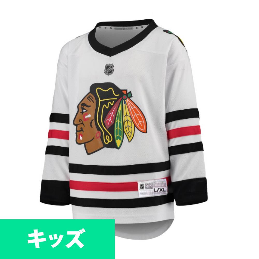 NHL ブラックホークス ユニフォーム/ジャージ ユース レプリカ リーボック/Reebok アウェイ ホワイト