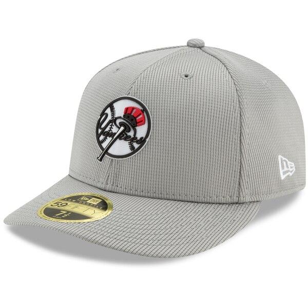 MLB ニューヨーク・ヤンキース キャップ/帽子 クラブハウス ロープロファイル 59FIFTY ニューエラ/New Era グレー