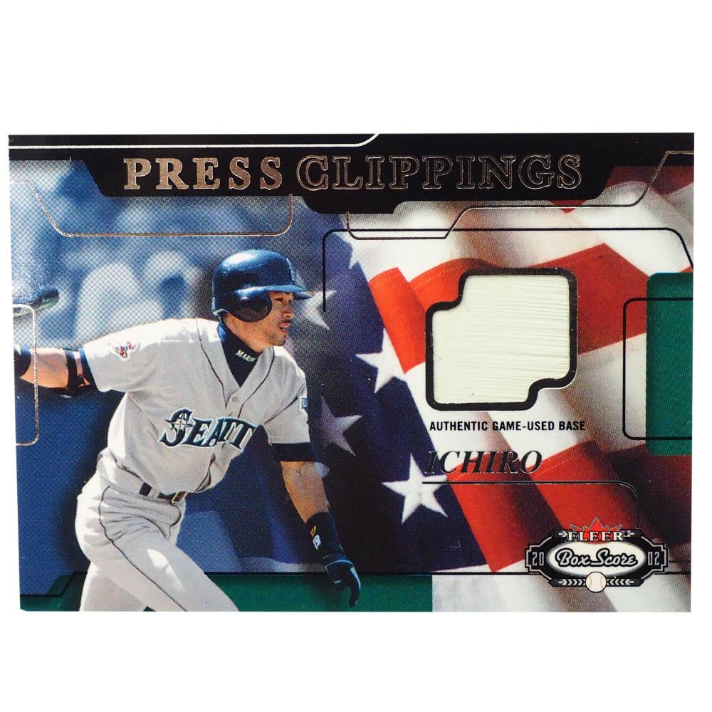 MLB イチロー シアトル・マリナーズ トレーディングカード/スポーツカード Press C;ippings ユーズド ベース Fleer