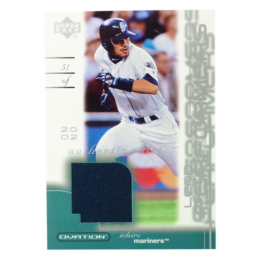 MLB イチロー シアトル・マリナーズ トレーディングカード/スポーツカード 2002 #LP-IS ゲーム ジャージ ネイビー Upper Deck