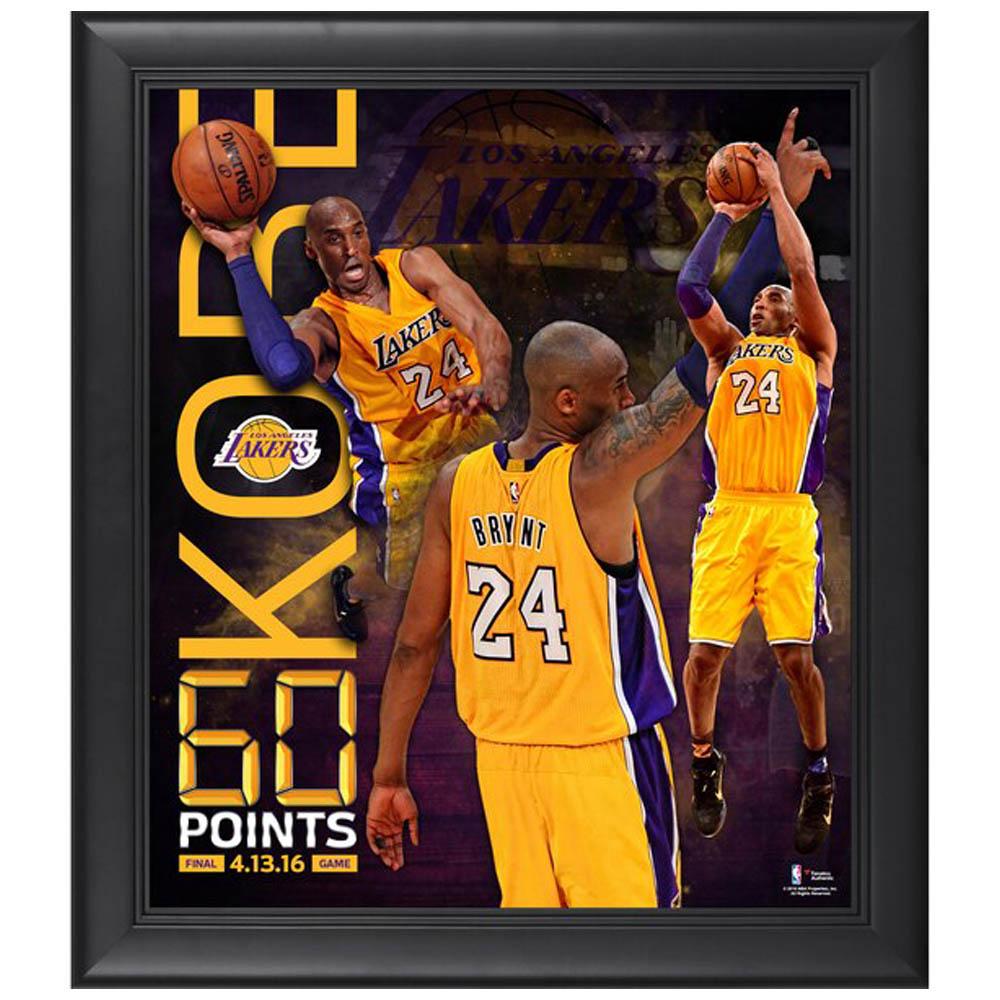 ご予約 NBA コービー・ブライアント ロサンゼルス・レイカーズ 60 Point Finale Collage Fanatics Branded