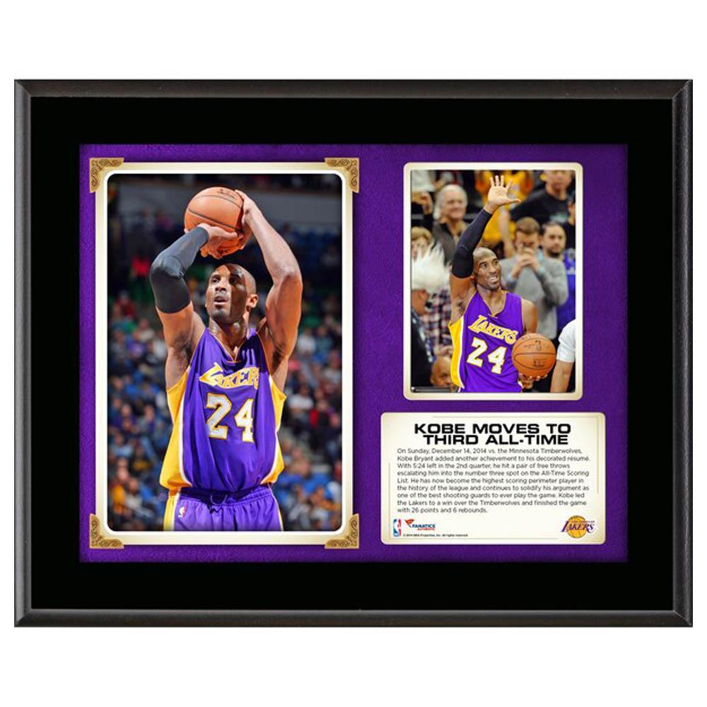 ご予約 NBA コービー・ブライアント ロサンゼルス・レイカーズ Third All-Time Scoring Sublimated Plaque Fanatics Branded