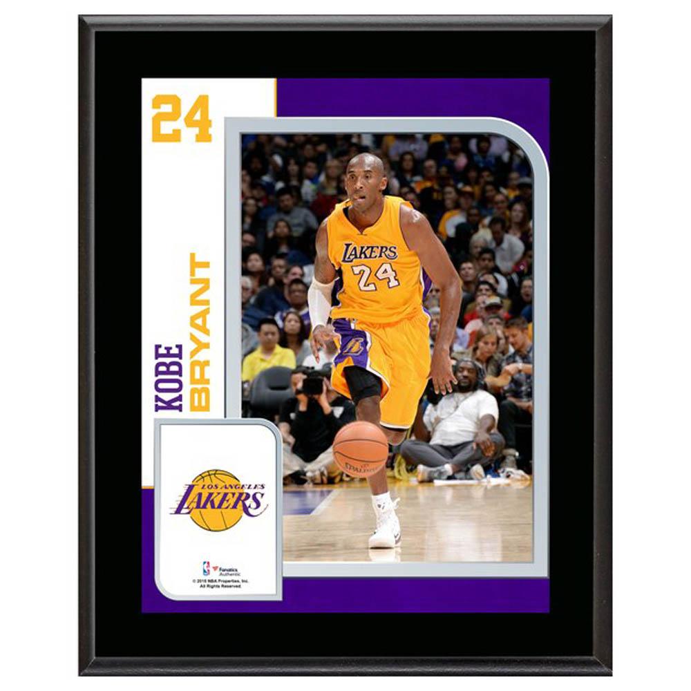 ご予約 NBA コービー・ブライアント ロサンゼルス・レイカーズ Sublimated Player Plaque Fanatics Branded