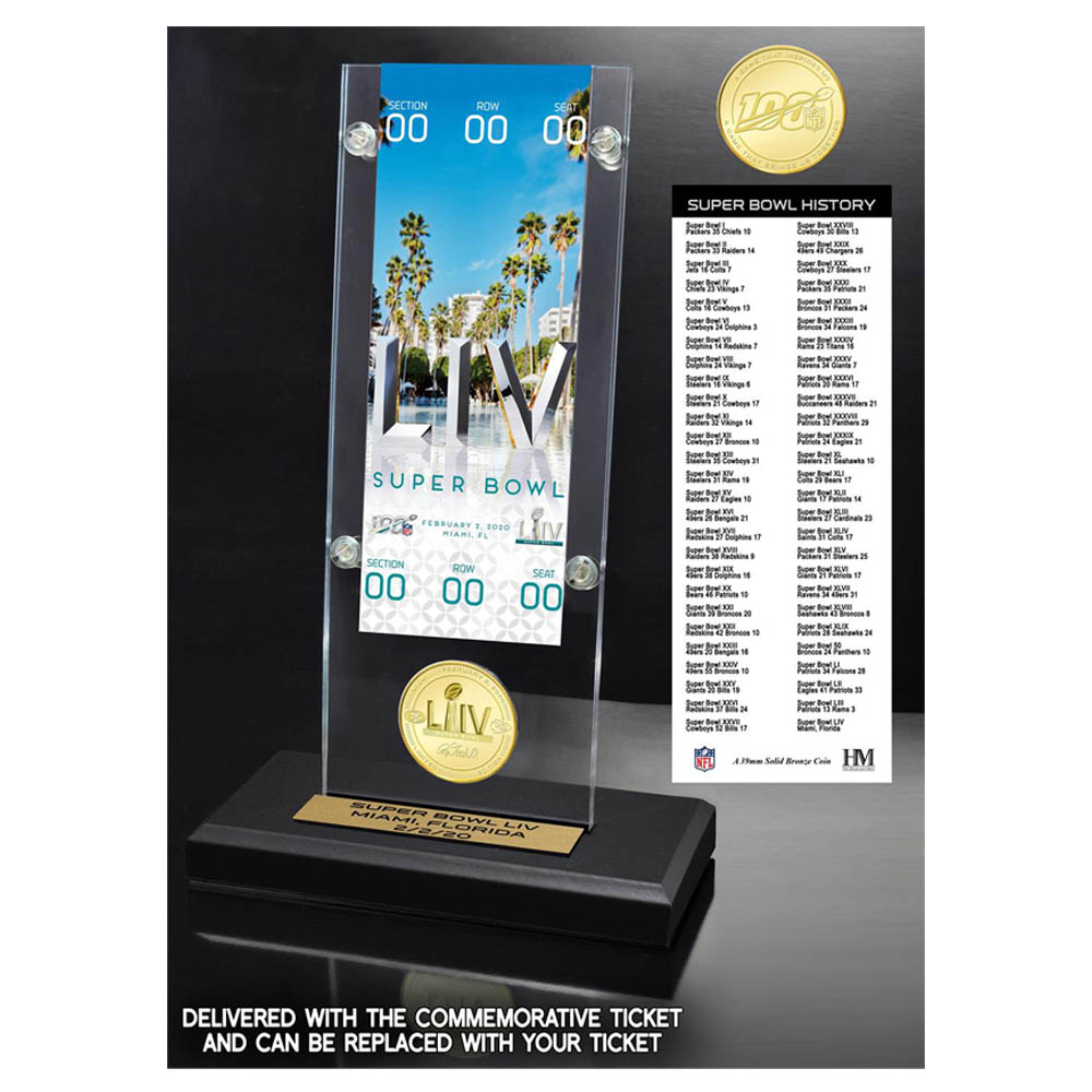 NFL 第54回 スーパーボウル Dueling Commemorative Holder and Flip Coin Chiefs vs 49ers Ticket チケット The Highland Mint
