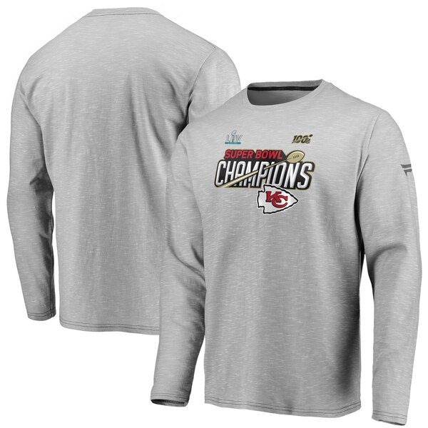 NFL チーフス Tシャツ 第54回 スーパーボウル 優勝記念 ロッカールーム ロングスリーブ ヘザーグレー