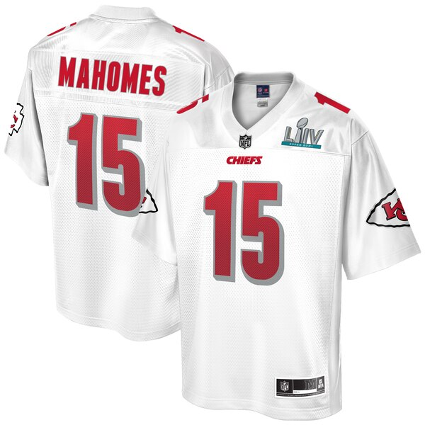 NFL パトリック・マホームズ チーフス ユニフォーム/ジャージ 第54回 スーパーボウル 優勝記念 ホワイト