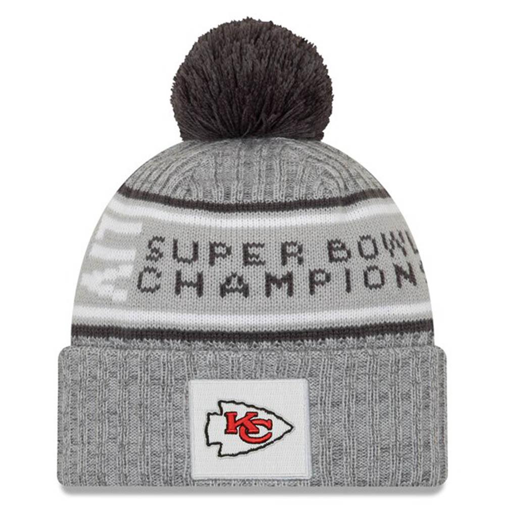 NFL チーフス ニットキャップ/ニット帽 第54回 スーパーボウル 優勝記念 Parade Pom Knit Hat ニューエラ/New Era グレー