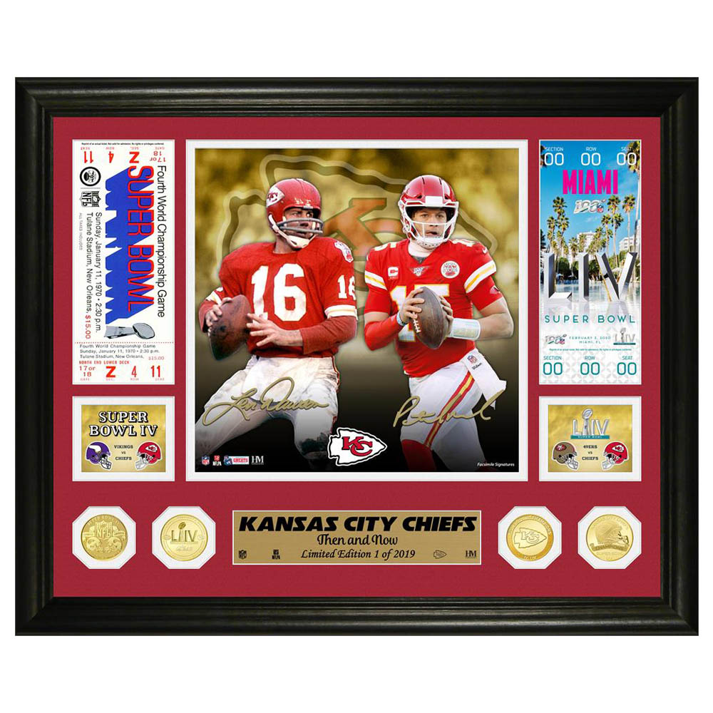 NFL チーフス 第54回 スーパーボウル 優勝記念 Then and Now Bronze Coin Photo Mint コイン スタンド The Highland Mint