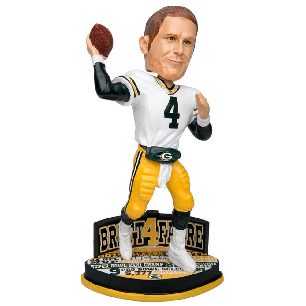 NFL ブレット・ファーブ パッカーズ フィギュア Carrer Stats Player ボブルヘッド Forever Collectibles