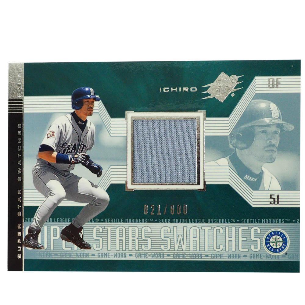 MLB イチロー シアトル・マリナーズ トレーディングカード/スポーツカード 2002 Ichiro #165 Game Jersey Grey 021/800 Upper Deck