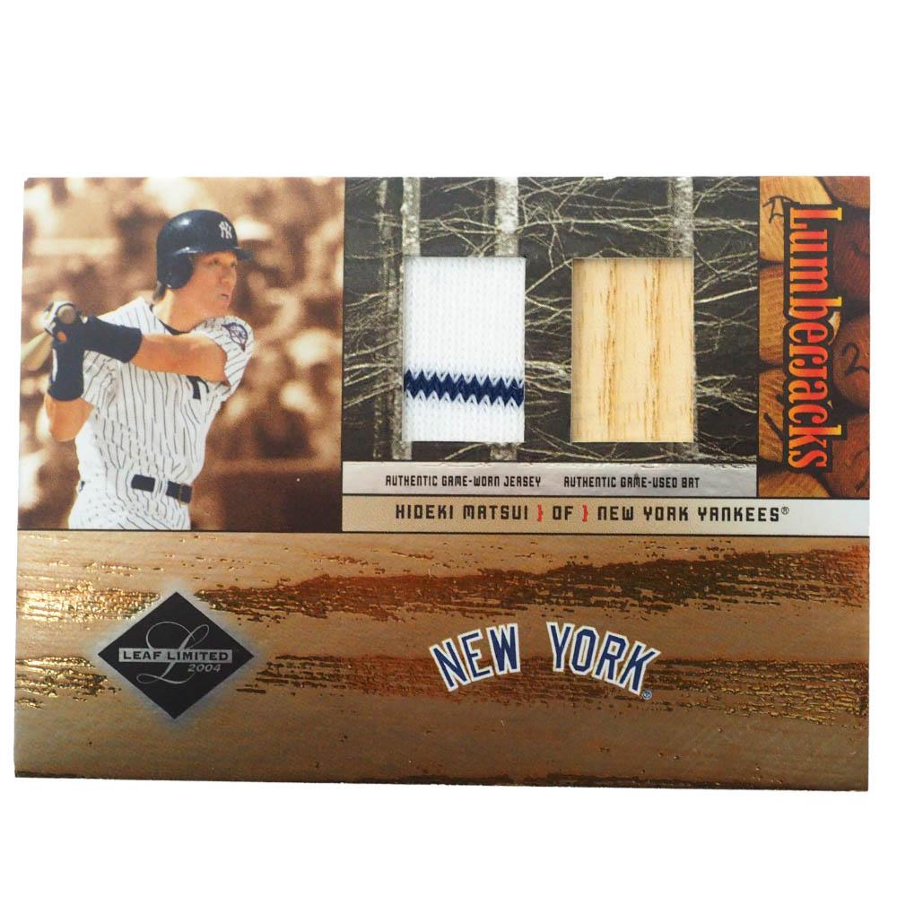 MLB 松井 秀喜 ニューヨーク・ヤンキース トレーディングカード/スポーツカード Donruss 2004 H Game Jersey Bat 38/100 #LJ-21 Donruss