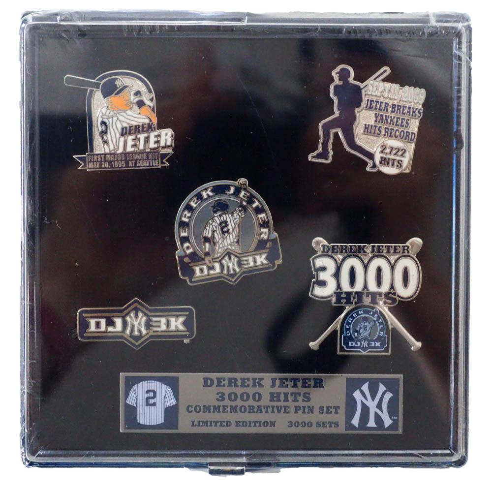 MLB デレク・ジーター ニューヨーク・ヤンキース Derek Jeter 3000 Hits Commemorative 5 Pin Set ピンズセット Aminco